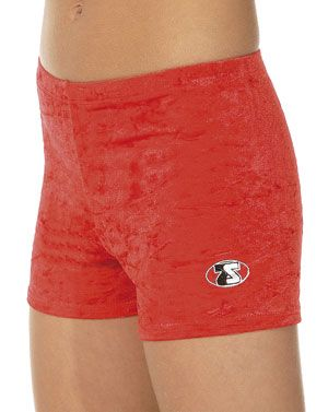 Girls Crushed Velour Gymnastics Shorts - Z106