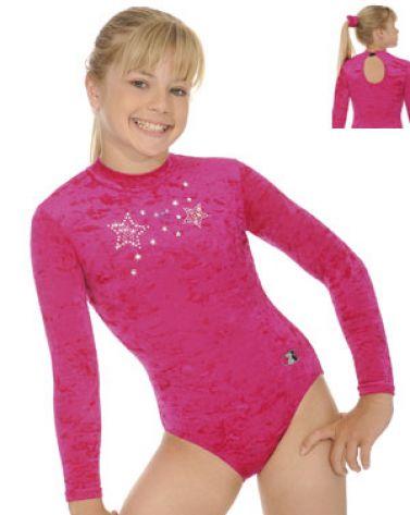 Stellar Long Sleeve Turtleneck Gymnastics Leotard