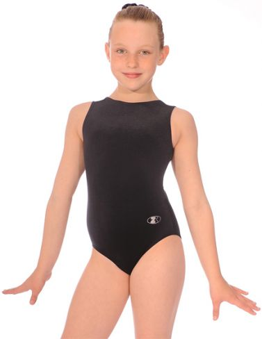 Sleeveless Velour Gymnastics Leotard