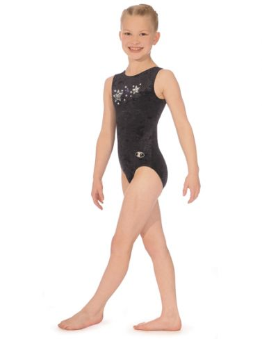 Stellar Sleeveless Round Neck Gymnastics Leotard