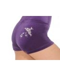 Grape Spirit Velour Hipster Gymnastics Shorts The Zone Z2000SPI