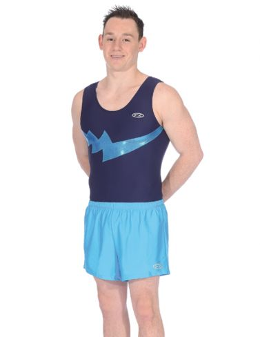 Storm Navy Blue & Kingfisher Boys Sleeveless Gymnastics Leotard Z354STO