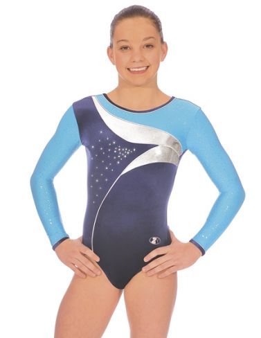 Kingfisher Cosmic Long Sleeve Gymnastics Leotard