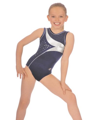 Navy Cosmic Sleeveless Gymnastics Leotard