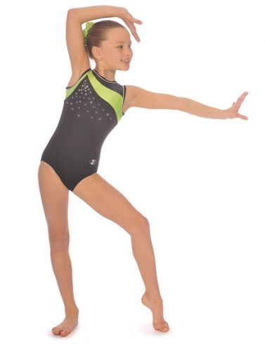 Lime Icon Sleeveless Gymnastics Leotard
