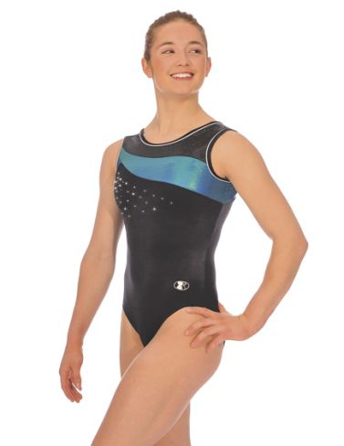 Mermaid Icon Sleeveless Gymnastics Leotard