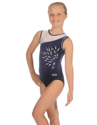 Eclipse Navy Sleeveless Gymnastics Leotard
