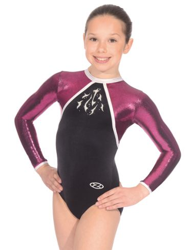 The Zone Rhythm Black Long sleeve Gymnastics Leotard