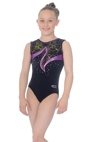 Nocturne Sleeveless Gymnastics Leotard - The Zone Z397NOC