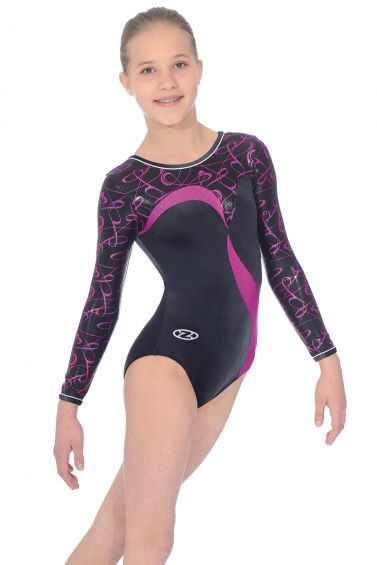 Vibe Pink Long Sleeved Gymnastics Leotard - The Zone Z408VIB