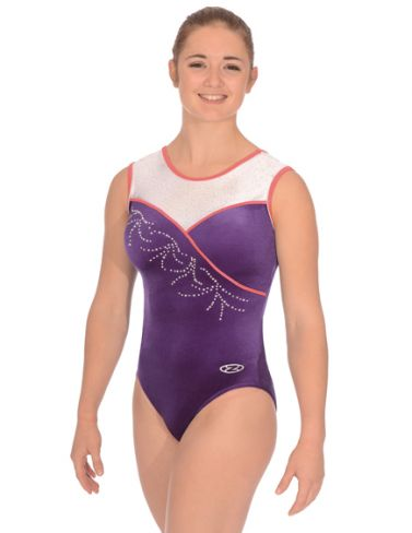Melody Grape Sleeveless Gymnastics Leotard - The Zone Z356MEL