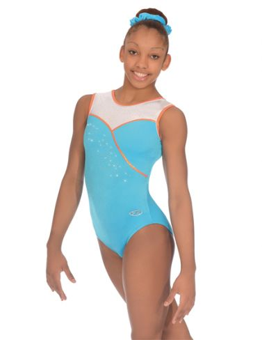 Melody Kingfisher Sleeveless Gymnastics Leotard - The Zone Z356MEL
