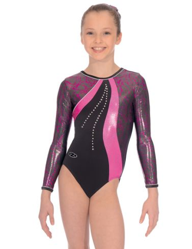 Scribble Long Sleeved Gymnastics Leotard - The Zone Z362SCR