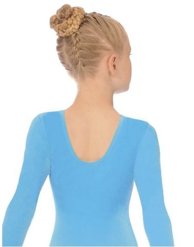 Kingfisher Long Sleeve Velour Gymnastics Leotard