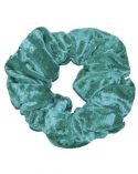 Cool Green Crushed Velour Hair Scrunchie