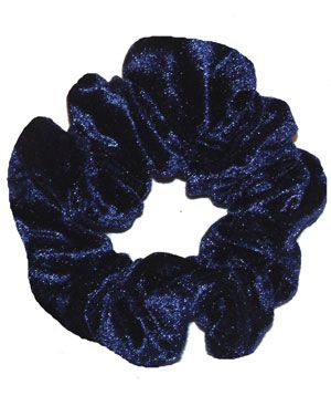 Scrunchie in Navy Blue Crushed Velvet