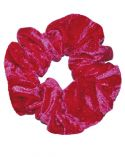 Scrunchie in Raspberry Crushed Velvet