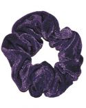 Grape Smooth Velour Hair Scrunchie