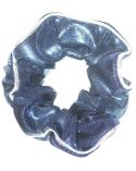 Navy Glam Foil Print Scrunchie