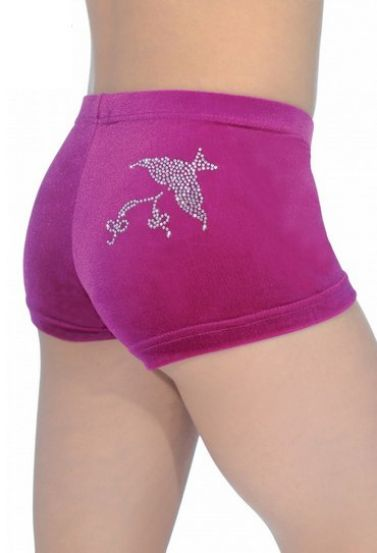 Cerise Spirit Velour Hipster Gymnastics Shorts The Zone Z2000SPI