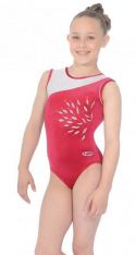 Eclipse Wine Sleeveless Gymnastics Leotard