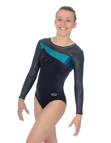 Icon Mermaid Long Sleeve Gymnastics Leotard - The Zone Z338ICO