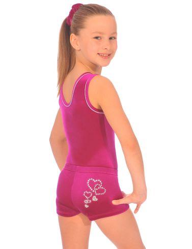 Velour Hipster Gym Shorts - Dancemania Dancewear