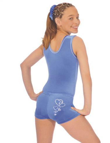 ce7ac9495fd8 Girls Royal Velour Valentine Gymnastics Shorties