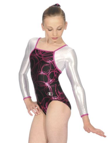 Mystic Long Sleeve Square Neck Gymnastics Leotard