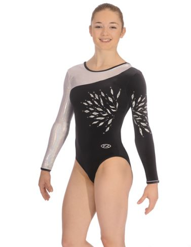 Eclipse Black Long Sleeve Gymnastics Leotard