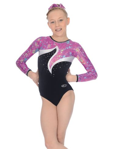 Orchid Long Sleeved Gymnastics Leotard - Z391ORC