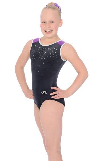 Sinead Black Grape Sleeveless Gymnastics Leotard - The Zone Z414SINE