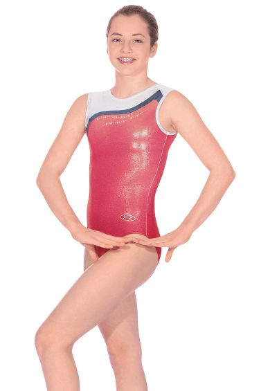Whisper Sleeveless Gymnastics Leotard - The Zone Z442WHI