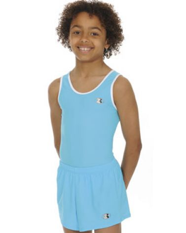 cd8fb0fdb009 Mens   Boys Turquoise Sleeveless Ace Gymnastics Leotard