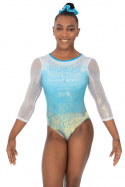 Aura Three Quarter Sleeve Gymnastics Leotard - The Zone Z473AUR