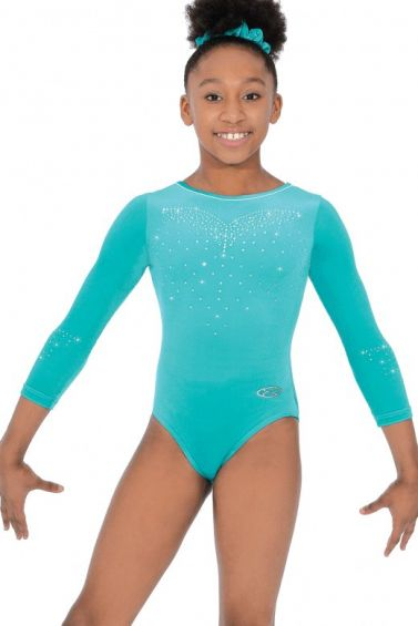 Crystal Long Sleeve Gymnastics Leotard - The Zone Z477CRY