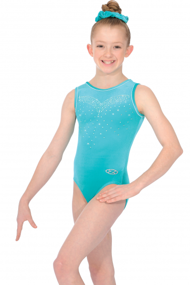 Crystal Sleeveless Gymnastics Leotard - The Zone Z478CRY