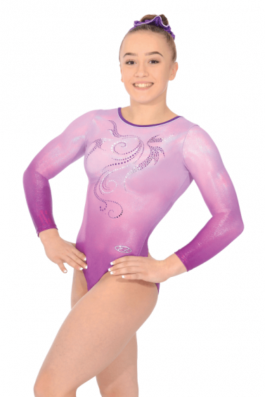 Mirage Long Sleeve Gymnastics Leotard - The Zone Z475MIR