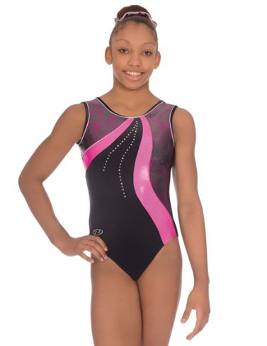 Scribble Sleeveless Gymnastics Leotard - The Zone Z363SCR