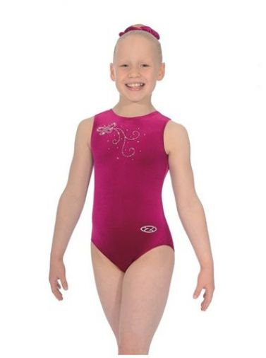 Butterfly Sleeveless Gymnastics Leotard - The Zone Z103BUT