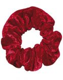 Scrunchie in Claret Crushed Velvet