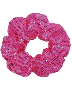 Flo Pink Crushed Velour Hair Scrunchie