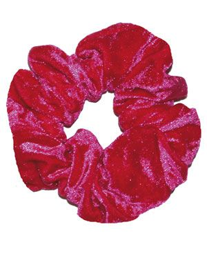 Raspberry Velour Scrunchie