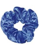 Scrunchie in Royal Blue Crushed Velvet