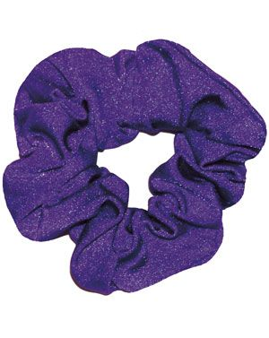 Purple Scrunchie in Nylon Lycra